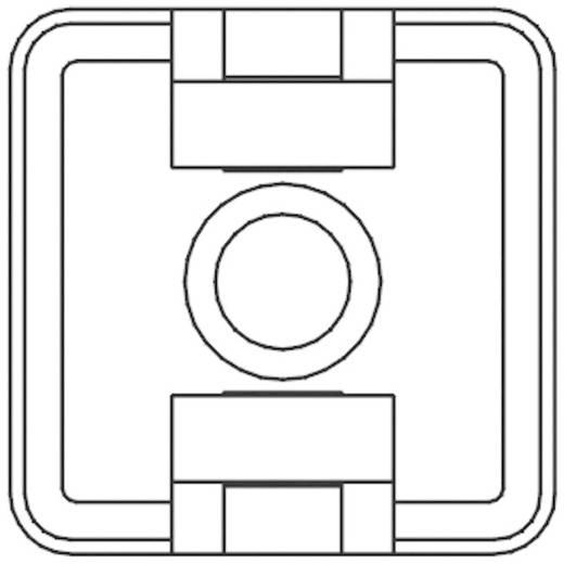 KSS öntapadós rögzítő kábelkötözőhöz, fekete, HCR18T
