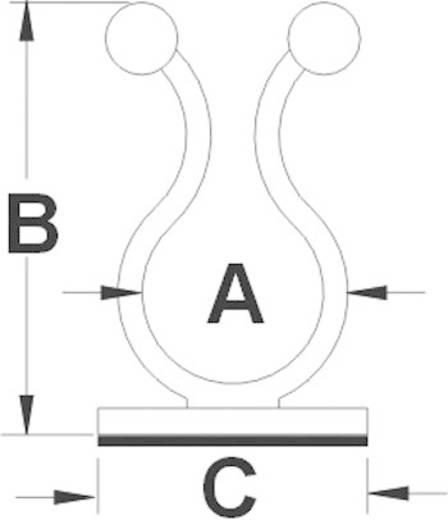 Kábelrögzítő, öntapadós, 10-15MM