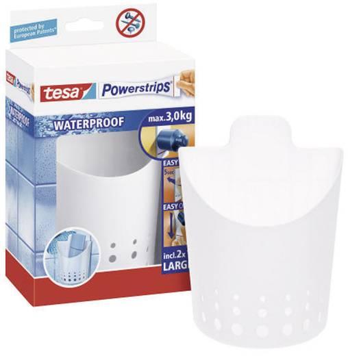 Fali tartó , fehér, Tesa Powerstrips Waterproof 59705
