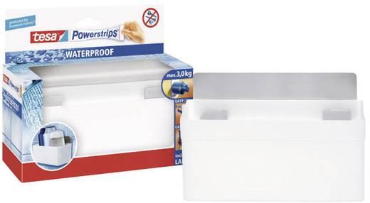 Fali tartó , fehér, fém, Tesa Powerstrips Waterproof 59711