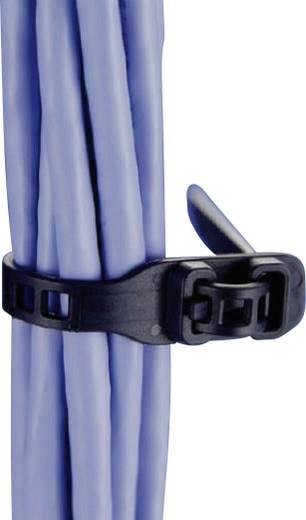 Hőstabilizált, oldható kábelkötegelő, flexibilis, 580 x 28 mm, fekete (UV álló), 3 db, HellermannTyton 115-28590
