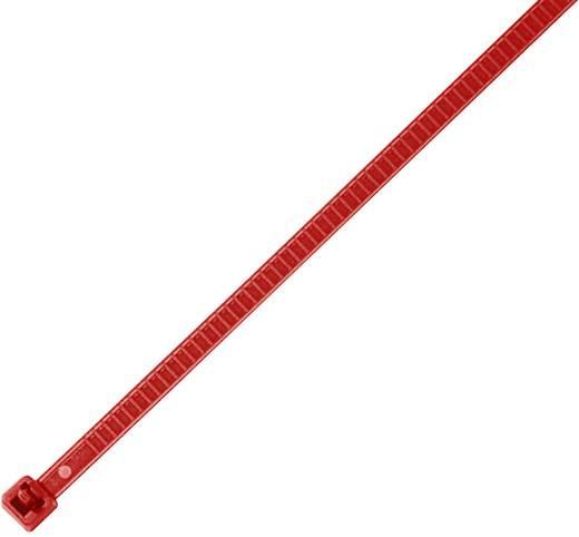 Hőstabilizált kábelkötegelő készlet, oldható, 196 x 4,8 mm, piros, 25 db, HellermannTyton 115-00003 LR55R-PA66-RD-Q1