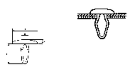 PB Fastener Hajtó csapszeg (Ø-D x Ø-d x L x h) mm 14,1 x 6,9 x 17 x 2 Lemezméret 2.0 - 5.5 mm PA Fekete