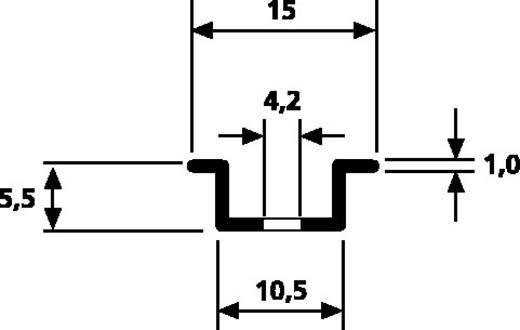 HellermannTyton DELTA tartósínek DELTA2F-ST-GL-WC, hossz: 2 m