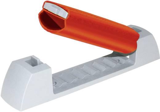 Kábelrögzítő klip, szürke/piros