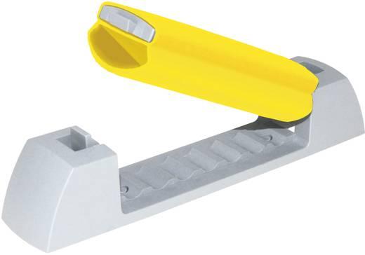 Kábelrögzítő klip, világosszürke, sárga