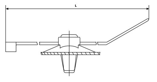 Kábelkötegelő benyomós rögzítővel 200 x 4,6 mm, fekete, 1 db, HellermannTyton 150-37799 T50ROSSFT6,5 16-3MD