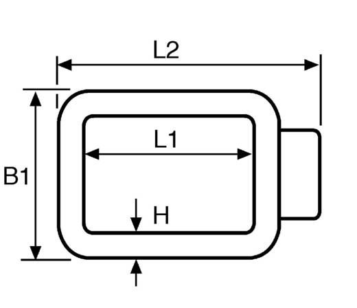 Szorítóhurok R1-PVC-BK-D1 Fekete HellermannTyton Tartalom: 1 db