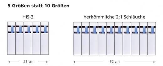 Adagoló doboz, HIS-3 Ø (zsugorodás előtt/után): 9 mm/3 mm, zsugorodási arány 3:15 m, zöld/sárga