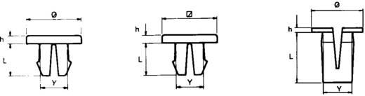 PB Fastener Bepattintós anya 317-1994-000 (Ø x Y x L x h) mm 12,7 x 7,5 x 12,7 x 0,8 PA 6.6 Natúr
