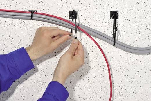 Kábelkötöző, (H x Sz) 520 mm x 7.7 mm Q120M-PA66-YE-C1 Szín: Sárga 100 db HellermannTyton
