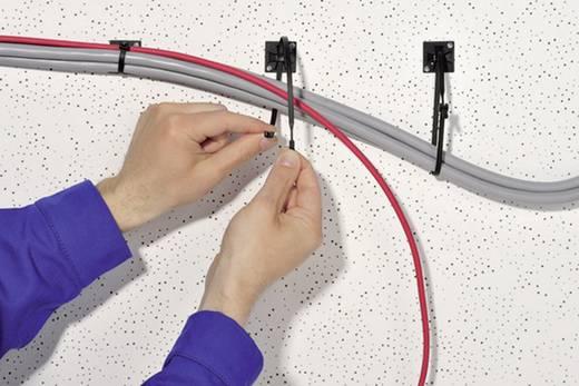 Kábelkötöző, Q-Tie (H x Sz) 200 mm x 3.6 mm Q30L-PA66-BK-C1 Szín: Fekete 100 db HellermannTyton