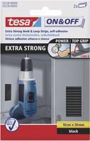Tesa öntapadós tépőzár, tépőzáras ragasztószalag, extra erős 100 mm x 50 mm fekete TESA On & Off 55228-00-01 (55228-00-01) TESA On & Off