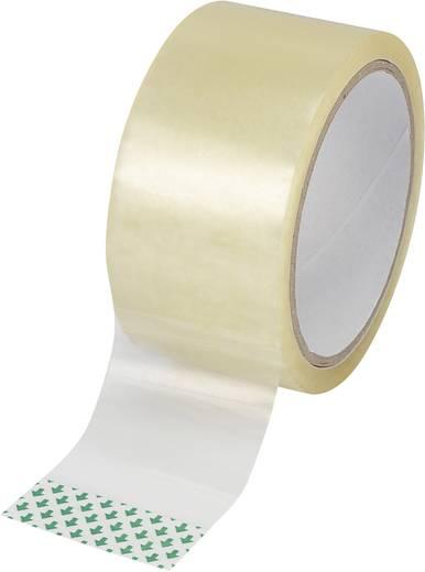 Csomagoló ragasztószalag, (H x Sz) 50x48 mm, átlátszó, biaxiálisan nyújtott polipropilénfilm (BOPP), Basetech SH1998C345