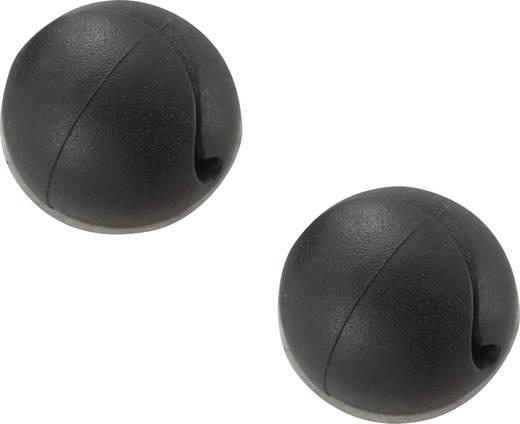 Mini kábeltartó, öntapadó MSWC-10BK, fekete Conrad, tartalom: 10 ST