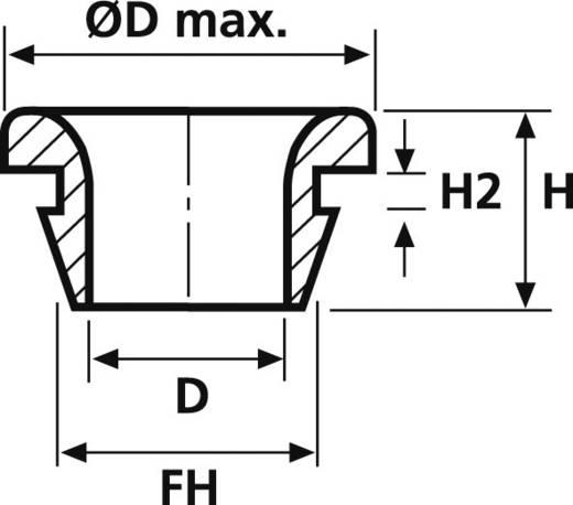 Átvezető gumigyűrű, HellermannTyton HV1502-PVC-BK-N1
