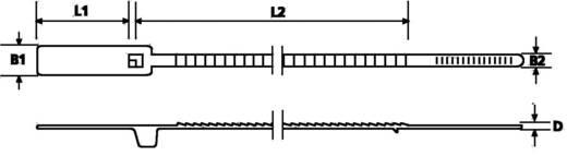 Biztonsági kábelkötegelő 160 x 3 mm, piros, 1 db, HellermannTyton 143-03012 S20-N66-RD-D1