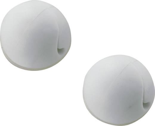 Mini kábeltartó, öntapadó, fehér, tartalom: 1 db