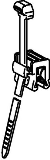 Kábelkötegelő kábeltartóval 200 x 4,6 mm, fekete, 1 db, HellermannTyton 156-00010 T50ROSEC21-MC5-BK-D1
