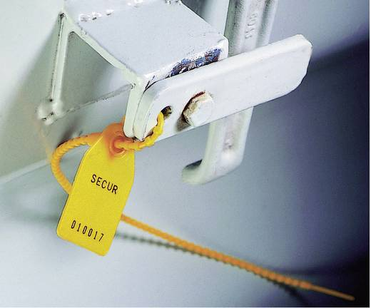 Gömb-gyöngyös kábelkötegelő 193 mm, piros, 1 db, HellermannTyton Robo-Lock RL350-PE-RD-M0