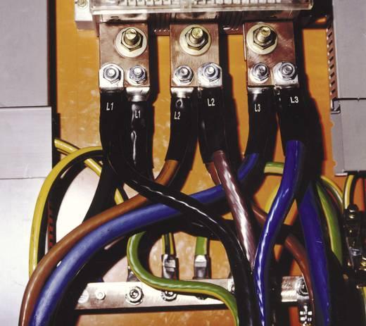 Zsugorcső készlet fázisjelöléshez Ø (zsugorodás előtt/után): 40 mm/12 mm1 PAKfekete