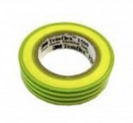 PVC elektromos szigetelőszalag, 10 m x 15 mm, zöld/sárga, 3M Temflex 1500
