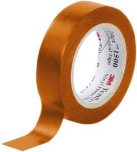 PVC elektromos szigetelőszalag, 10 m x 15 mm, narancs, 3M Temflex 1500 3M