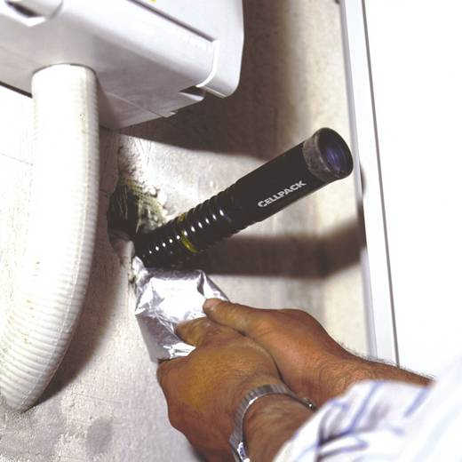 Zsugorcsöves kábelvezető csatorna fal belsejébe Ø (zsugorodás előtt/után): 25 mm/6 mm1 PAKfekete