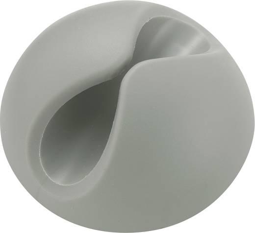 Kábeltartók, öntapadó, szürke, Köteg Ø: max. 1 x 9 mm