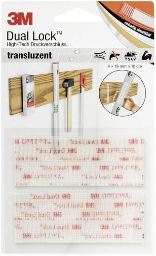 Öntapadó tépőzár, 10 cm x 1,9 cm, átlátszó, 4 db, 3M