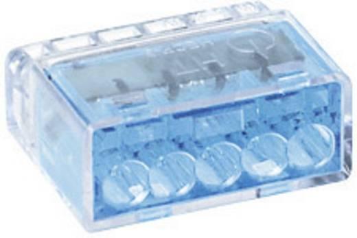 Vezetékösszekötő ATT.CALC.CROSS_SECTION_RIGID: 0.5-2.5 mm² pólusszám: 5 HellermannTyton HECP-5 1 db Kék