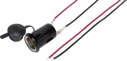 Beépíthető, forrasztható szivargyújtó aljzat, védőkupakkal max.10A 548044