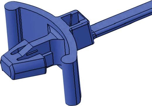 Benyomó-tartó kábelkötegelő 100 x 2,5 mm, fekete, 1 db, HellermannTyton 111-85560 T18RSF-W-BK-C1