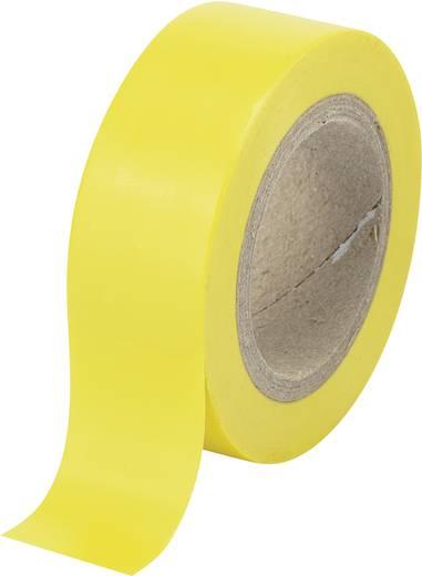 PVC szigetelőszalag (H x Sz) 25 m x 19 mm, sárga PVC SW12-014YL Tru Components, tartalom: 1 tekercs