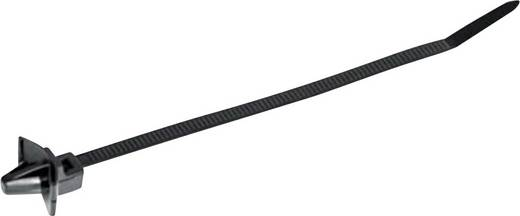 Benyomó-tartó kábelkötegelő 135 x 4,6 mm, fekete, 1 db, HellermannTyton 126-02204 T50SSL5-HS-BK-D1