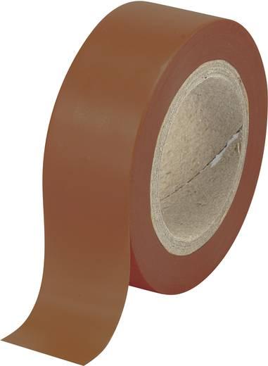 PVC szigetelőszalag (H x Sz) 10 m x 19 mm, barna PVC 540915BN Tru Components, tartalom: 1 tekercs