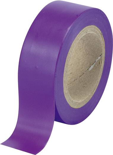 PVC szigetelőszalag (H x Sz) 10 m x 19 mm, lila PVC SW12-013PL Conrad, tartalom: 1 tekercs