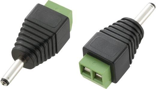 Kisfeszültségű csatlakozó Dugó, egyenes 3.5 mm 1.3 mm Tru Components LT-DC3.5M 1 db