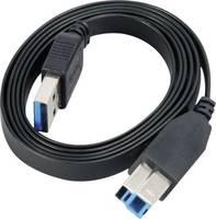 USB kábel 1 x USB 3.0 dugó A – 1 x USB 3.0 dugó B, 2 m, fekete, nagy rugalmasságú, Akasa (AK-CBUB14-20BK) Akasa