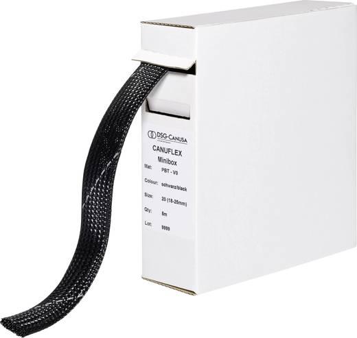 Hálós tömlő, Canuflex Kötegtart.Ø: 18 - 25 mm Canuflex-Minibox PBT V0 DSG Canusa Tartalom: 5 m
