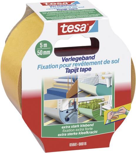 Kétoldalú ragasztószalag (H x Sz) 5 m x 50 mm, tartalom: 1 tekercs, TESA 05681-18