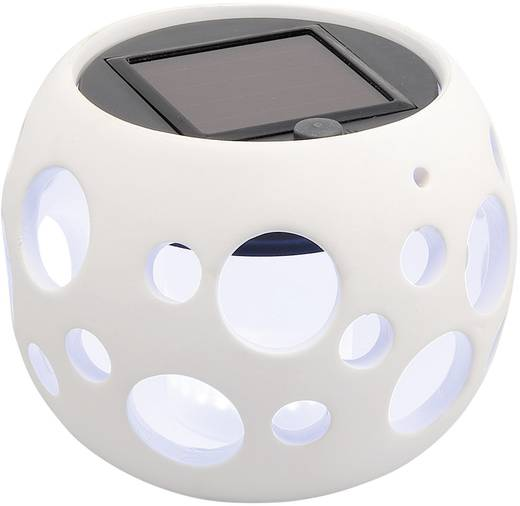 Szolár kerti LED-es világítás, gömb, 120 mm, fehér, Konstsmide 7801-200 Solar Light Ball Genova
