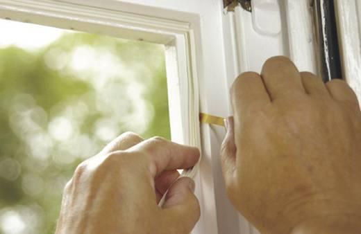E profilú ablak szigetelő gumi, barna, 10 m x 9 mm, tesamoll TESA 1 tekercs
