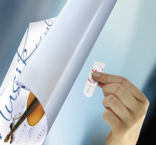 Command™ Poster Strips (H x Sz) 46 mm x 15 mm, fehér 17024 3M, tartalom: 1 csomag