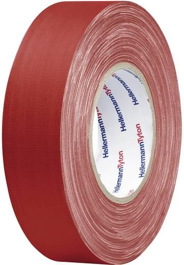 Téphető szövetbetétes ragasztószalag, gaffer tape 50 m x 19 mm, piros színű HellermannTyton HelaTape