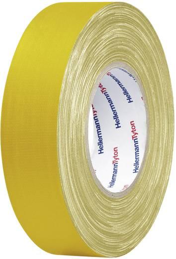 Téphető szövetbetétes ragasztószalag, gaffer tape 50 m x 25 mm, sárga színű HellermannTyton HelaTape