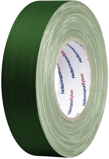 Téphető szövetbetétes ragasztószalag, gaffer tape 50 m x 19 mm, zöld színű HellermannTyton HelaTape
