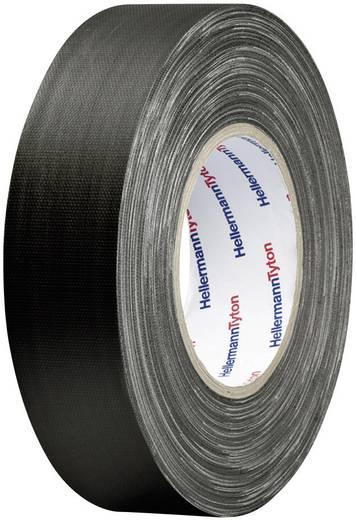 Téphető szövetbetétes ragasztószalag, gaffer tape 25 m x 50 mm, fekete színű HellermannTyton HelaTape