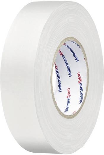 Téphető szövetbetétes ragasztószalag, gaffer tape 10 m x 19 mm, fehér színű HellermannTyton HelaTape