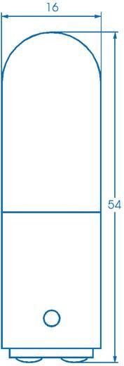 Cső izzó 220 - 260 V 6 - 10 W, foglalat: BA15d, átlátszó, Barthelme, tartalom: 1 db